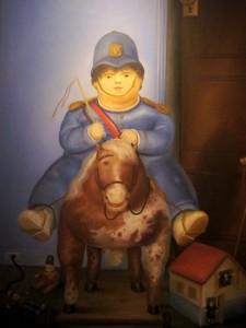 Painting-boy-on-horse-Museo-de-Antioquia